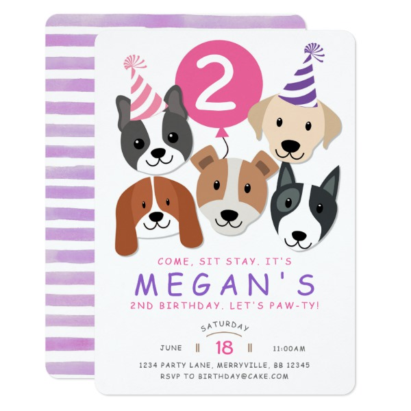 Dog Party Invitation